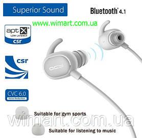 Навушники Bluetooth з мікрофоном QCY QY19. Білий
