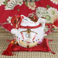 Манэки-Нэко «Богатство и любовь», белый #4, фото 1