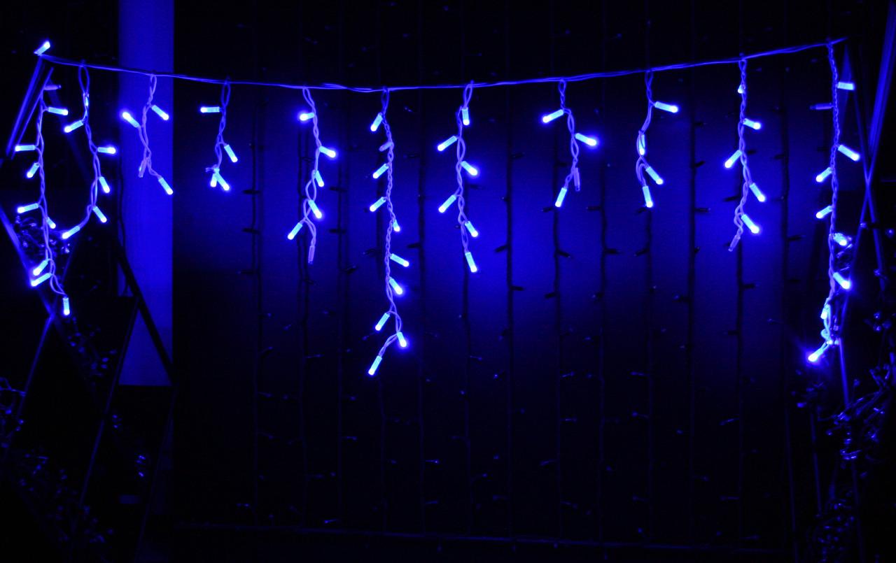 Уличная светодиодная гирлянда бахрома Lumion Icicle Light (Айсикл лайт) 90 led  наружная синий с мерцанием