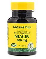 Ниацин 100 мг, Nature's Plus, 90 таблеток