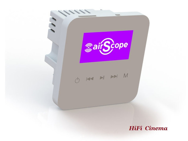 Filmoscope-Lab airScope X1WallAmp Wall-mounted Network Amplifier with Ethernet
