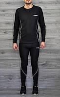 Мужской термокоплект Термобелье в стиле Columbia черный, фото 1