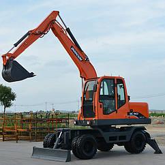 8-тонный колесный экскаватор LUGONG