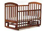 Кроватка для новорожденного Lama (Лама)  поперечный маятник без ящика орех  тм Ласка, фото 2