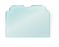 Стекло закаленное НСК 100см х 100см, толщина 0.4см, прозрачное сложная форма