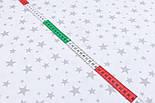 """Лоскут ткани """"Звёздная россыпь"""" с серыми звёздами на белом фоне, № 2401 размер 23*80, фото 4"""