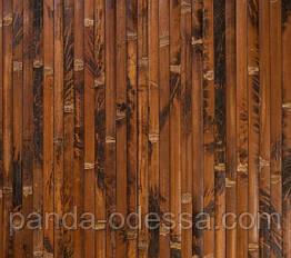 "В пределах отрезка 2 м.п / Бамбуковые обои ""Черепаха шоколадная"" п.17мм, ширина рулона 90 см"