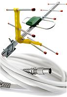 Антенна Т2 Eurosky ES-003 + кабель Finmark 10 м + конекторы