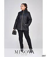 Женская  тёплая куртка  №4036-1  черного цвета