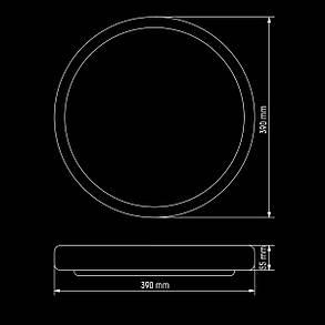 Світильник світлодіодний Biom SMART DEL-R08-24 4500K 24Вт без д/к, фото 2