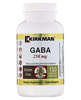 ГАМК (гамма-аминомасляная кислота) GABA 250 мг, Kirkman Labs, 150 капсул
