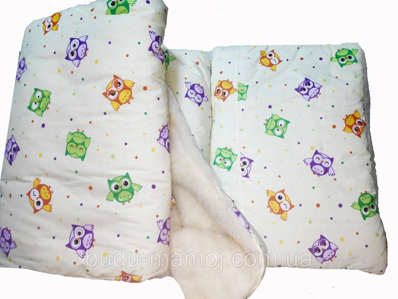 Набор Теплое одеяло в детскую кроватку + подушка