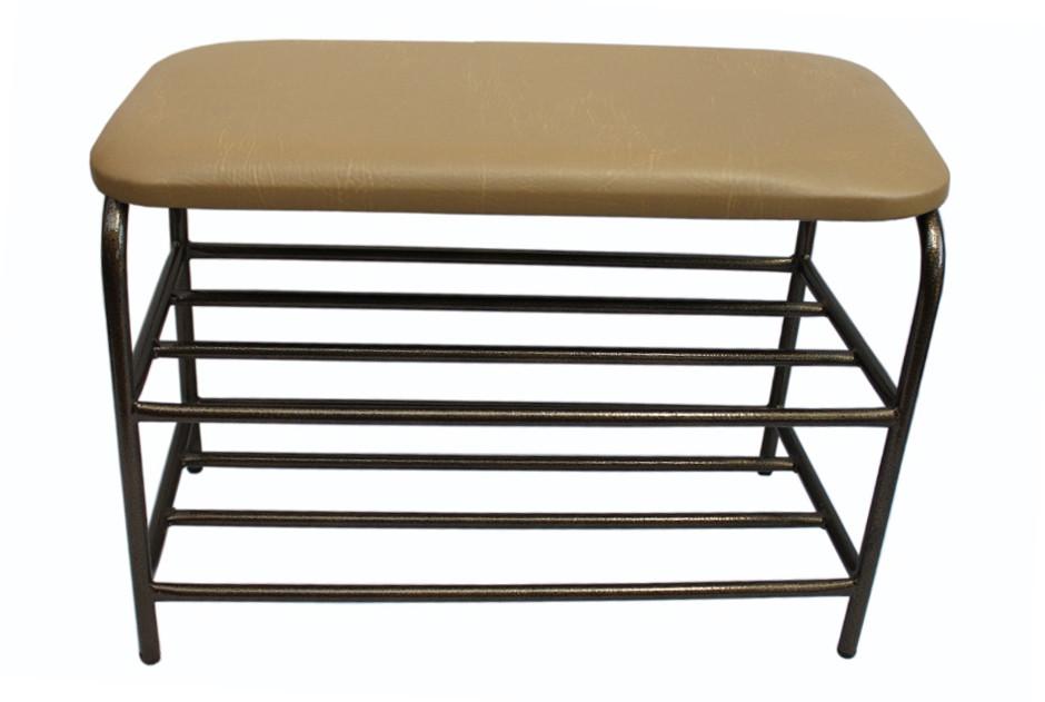 Банкетка металлическая с мягким сиденьем 80 см