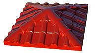 """Крышка на забор бетонная Мегалит """"Ретро"""" 600х600х180 мм, фото 1"""
