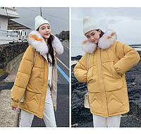 Зимняя женская куртка парка с мехом на капюшоне, фото 1