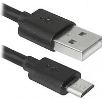 Кабель USB - Micro USB длина 20 см Черный
