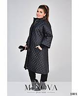 Женская  тёплая куртка  №1852-1 черного цвета