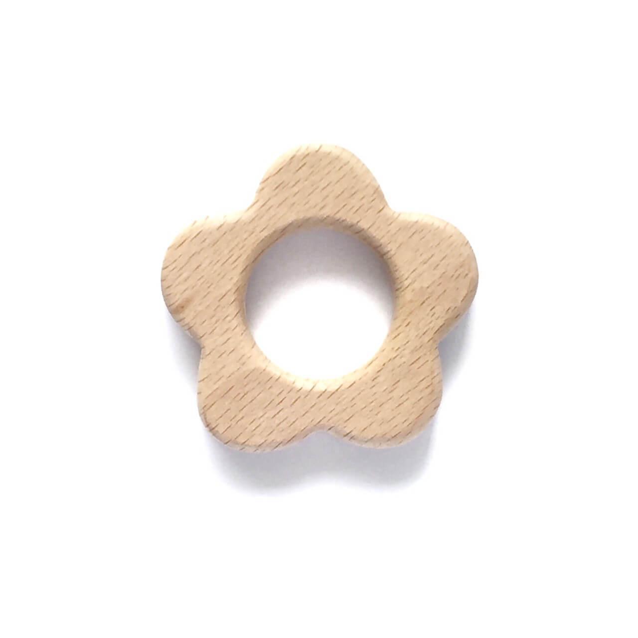 Бук грызунок Цветок (деревянные), прорезыватель для зубов