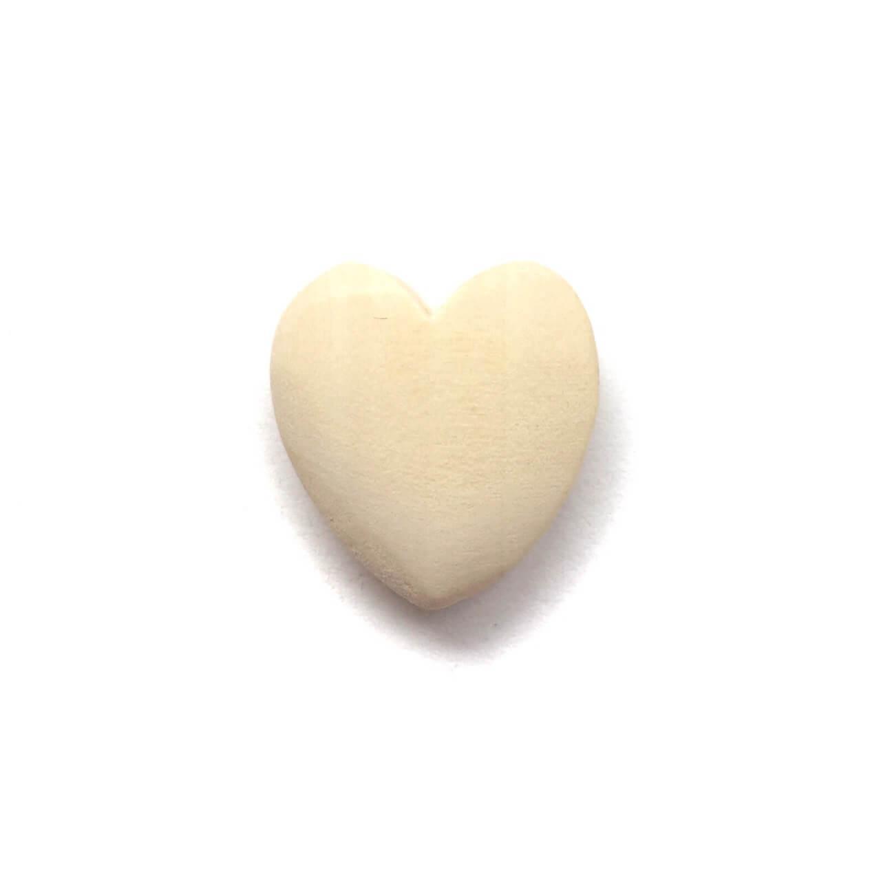 Бук Сердце 20мм (деревянные бусины)