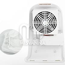 Настольная вытяжка (пылесос) на 100 Вт с регулировкой мощности, белая, фото 2