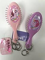 """Щетка для волос для деток стильная лицензийная «Единорог"""" фирмы Claire's"""