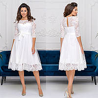 """Белое вечернее, свадебное пышное платье, платье на роспись, венчание """"Пенелопа"""""""