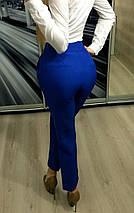 Брюки женские прямые с высокой посадкой /разные цвета, 42-46, ft-214/, фото 3