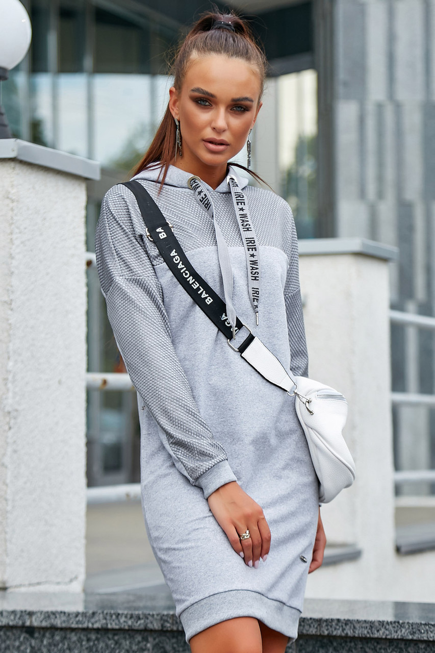 Женское спортивное платье 1216.3672 серый (S-L)
