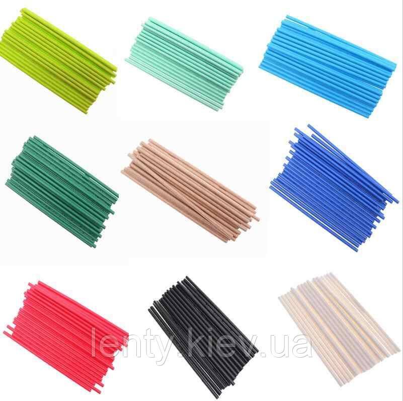 Коктейльные трубочки бумажные (одноцветные картон)