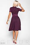 Платье-миди А-силуэта с поясом фиолетовое, фото 3
