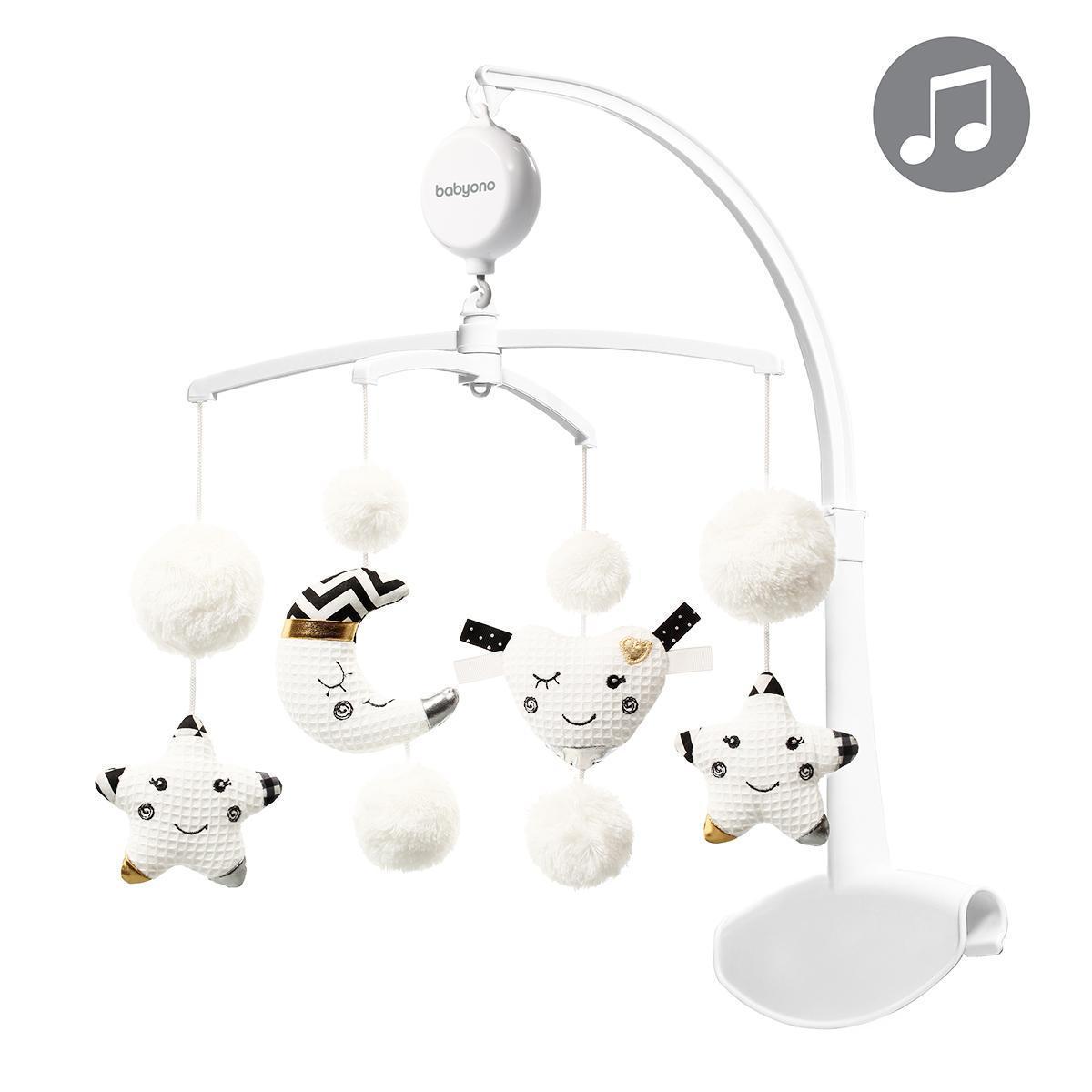 Музыкальный мобиль-каруселька для кроватки Звездочки BabyOno (15 мелодий)