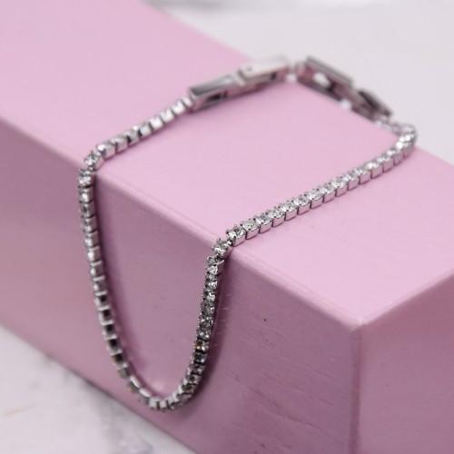 Жіночі браслет з кристалами Сваровські 17-19 см 172455