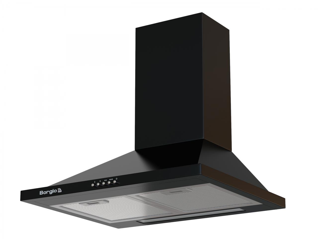 Кухонна витяжка купольна чорна BORGIO BHK 50 black