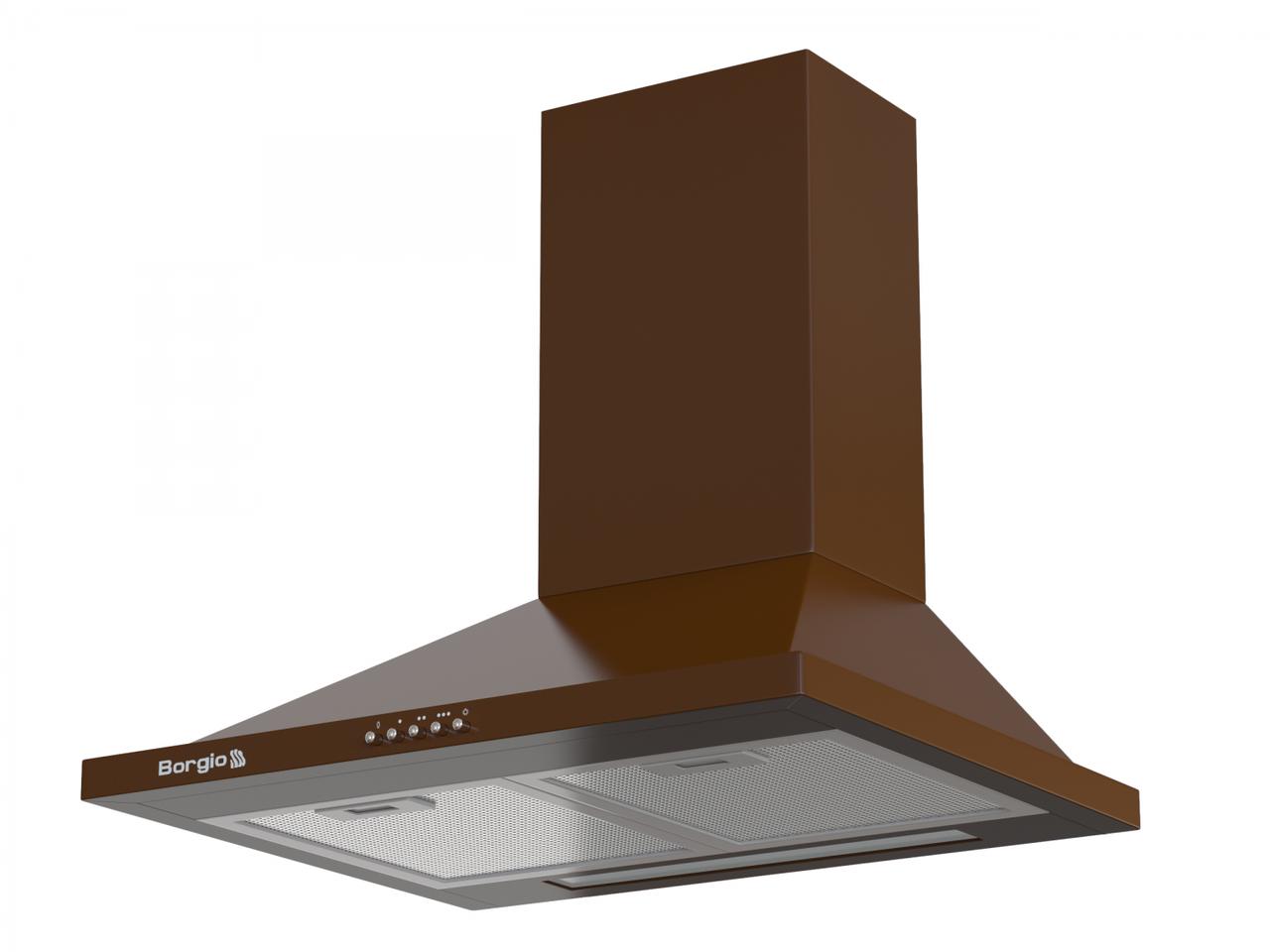 Кухонна витяжка купольна коричнева BORGIO BHK 60 brown