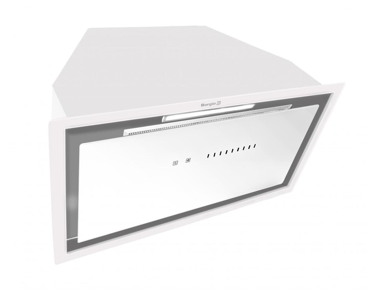 Кухонна витяжка вбудована BORGIO BIT-BOX full glass 60 white