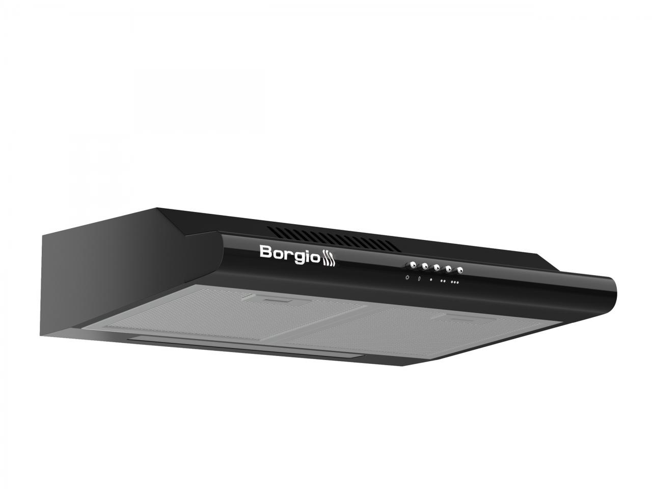 Кухонна витяжка плоска чорна BORGIO Gio 60 black