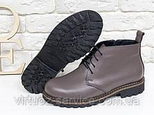 Ботинки женские Gino Figini Б-152-17 из натуральной кожи 37 Сиреневый, фото 3