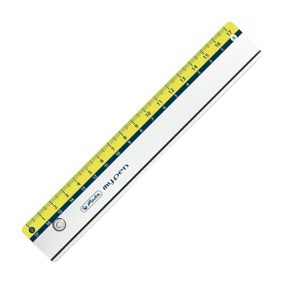 Линейка Herlitz 17см My.Pen Sport небьющийся пластик (11367984S)