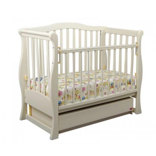 Дитяче ліжечко «VIVA» premium біла тм Ласка БЕЗКОШТОВНА ДОСТАВКА