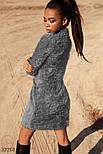 """Короткое платье """"травка"""" серого, фото 3"""