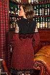Платье букле длины миди с кружевом красное, фото 3