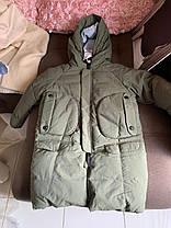 Зимний детский длинный пуховик на ребёнка на зиму, фото 3