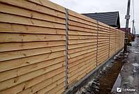 Заборы деревянные из сосны 2000х1700 мм (L=2000,H=1700) « Жалюзи», фото 1