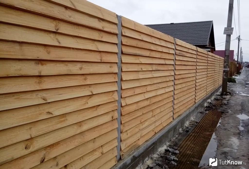 Заборы деревянные из сосны 2000х1700 мм (L=2000,H=1700) « Жалюзи»