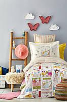Постельное белье Karaca Home подростковое Gita ранфорс