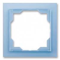 Рамка 1-я сине-ледяной ABB Elektro-Praha Neo