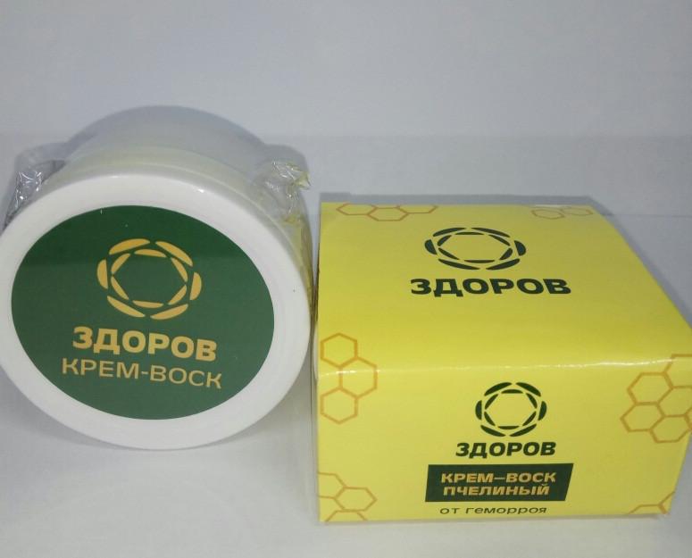 Здоров - Крем-воск пчелиный от геморроя, Только натуральные вещества
