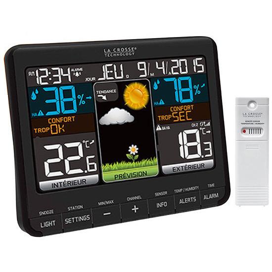 Метеостанция La Crosse WS6825-BLA с выносным датчиком для дома