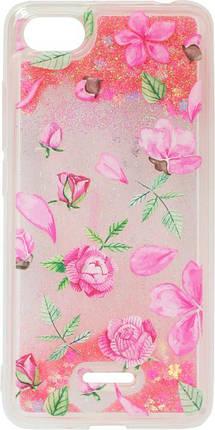 Накладка Xiaomi Redmi6A pink Roses аквариум, фото 2