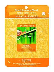 Тканинна маска для обличчя з равликовим муцином MJ Care Snail Essence mask